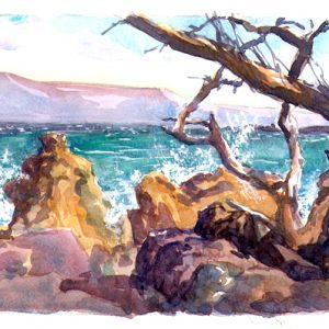 un vieux sketch couleur datant de 2000 à Hawaï